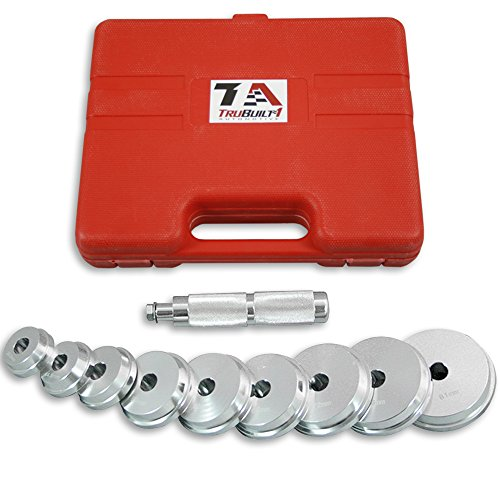 Bearing Race and Seal Driver Set of Nine, 9 Disc Sizes for Removing and Replacing Bearing Races and Seals on Cars, Trucks and Motorcycles T1A-OT654 by TruBuilt 1 Automotive