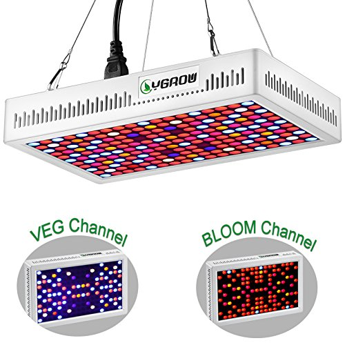LED Grow Light - 450W Grow Lights for Indoor Plants Veg and Flower Full Spectrum with Two Channel(Veg&Bloom) and Double Switch by YGROW