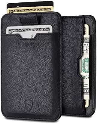 Chelsea Slim Card Sleeve Wallet with RFID Protection by Vaultskin – Top Quality Italian Leather - Ultra Thin Card Holder Design For Up To 10 Cards