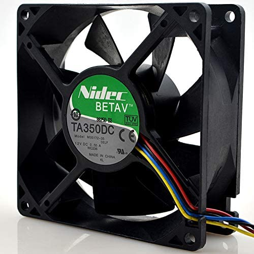 for Model M35172-35 0.55A 12V 9CM 4-Wire Chassis Fan