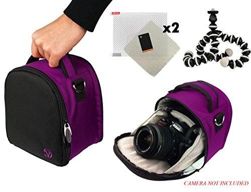 Laurel Travel Camera Bag Case for Nikon D Series D3, D300, D3000, D300s, D3100, D3200, D3300, D3s, D3X DSLR Camera and Screen Protector and Screen Protector and Mini Tripod