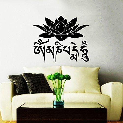 Adhesivos flor de loto de pared Mantra Om Mani Padme Hum Om ...