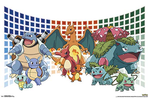 Trends International Pokemon - Trio Evolutions Wall Poster, 22.375