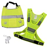 The Friendly Swede Reflective Safety Dog Vest and Reflective Human Vest (Medium)