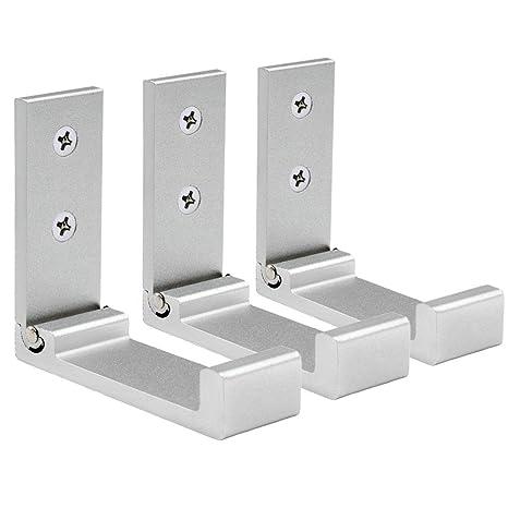 YOCZOX 3 Ganchos de Pared Plegables, de aleación de Aluminio, para Cocina, baño, Dormitorio