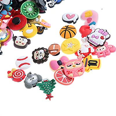 Felice Arts 100pcs Different Shape Jibbitz Shoes Charms Fits for Croc Clog Shoes & Wristband Bracelet Party Gifts