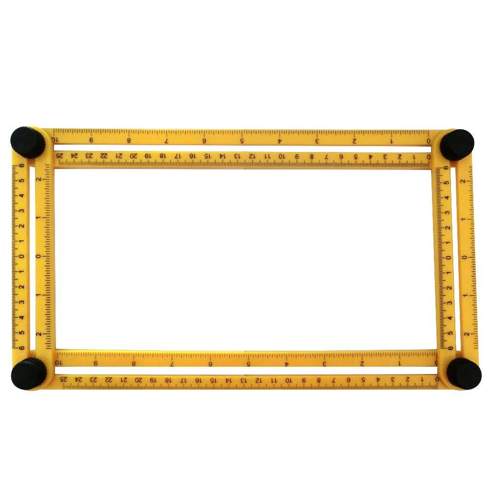 Handwerkzeuge Vierseitiges faltendes Messwerkzeug Multi-Winkel-Vorlagen-Ma/ßstab