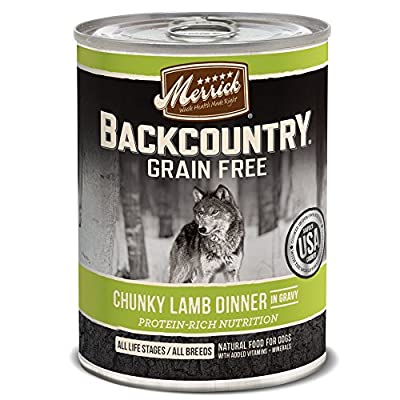 Merrick Grain Free Chunky Wet Dog Food, 12.7 oz, Case of 12