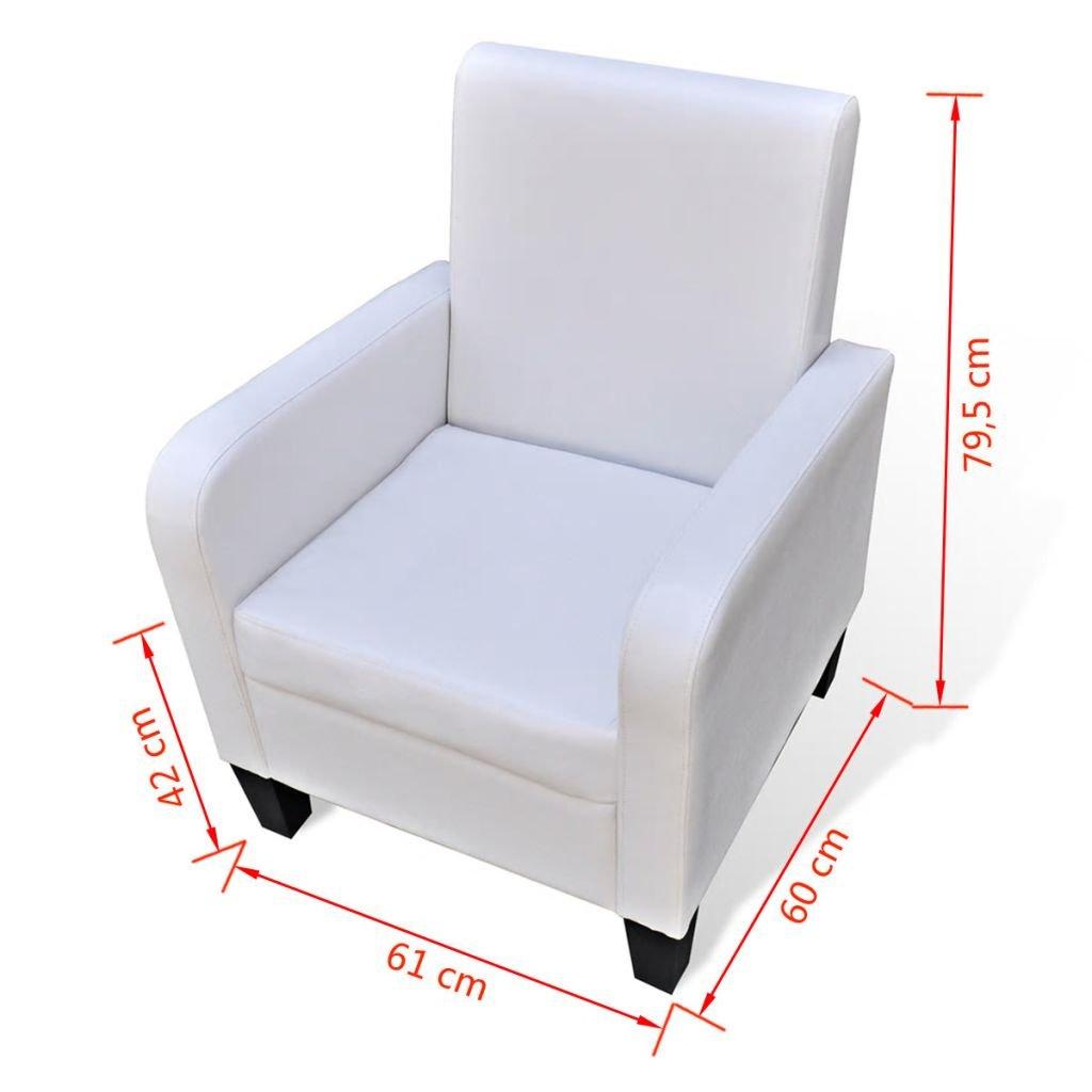 Furnituredeals Sillon con diseno de cubo Sillon de cuero ...