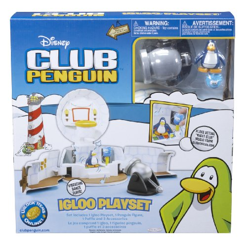 Club Penguin Igloo Playset/Carrying (Club Penguin Basketball)