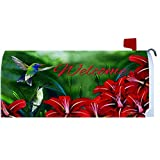 """Hummingbird Pair"" - Mailbox Makover Cover - Vinyl with Magnetic Strips"
