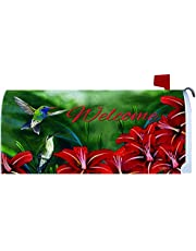 """""""Hummingbird Pair"""" - Mailbox Makover Cover - Vinyl with Magnetic Strips"""