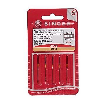 Singer Universal aguja 2020 80/11, Metal, Plata, 7 x 0,03 x 4 cm/5 unidades: Amazon.es: Hogar