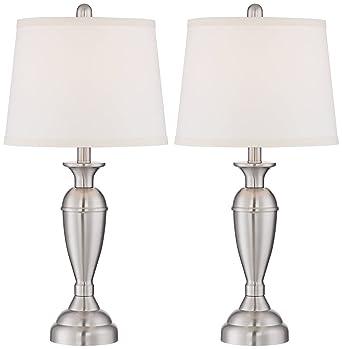 Blair brushed steel metal table lamp set of 2 amazon blair brushed steel metal table lamp set of 2 aloadofball Images