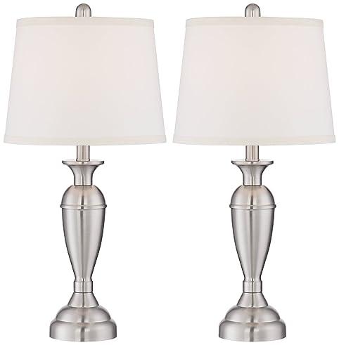 Blair Brushed Steel Metal Table Lamp Set of 2 - - Amazon.com