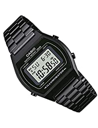 CASIO Vintage Collection B640WB-1BVT Watch, Black/Black