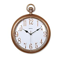 Minimalist art large Pocket watch wall clock Creative Quartz clock decoration Wall clock bedroom Mute Pocket watch Crafts