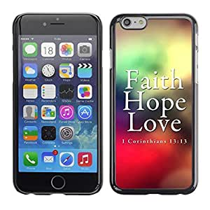 Hot Style Cell Phone PC Hard Case Cover // V0000356 Bible: Faith, Hope, Love // iphone 4 4s