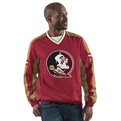 NCAA Florida State Seminoles Men's Draft Pick V-Neck Pullover Jacket, Large, (Garnet Florida State Seminoles Jacket)