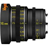 Veydra V1-16T22M43M Mini Prime 16mm T2.2 Metric Cinema Lens with Manual Focus, Black