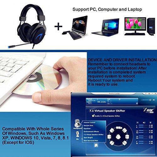 MUTOUREN Gaming Headset 7 1 Stereo Surround Sound 57mm