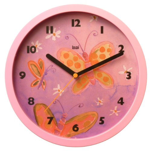 Bai Children Wall Clock, Butterflies