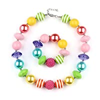 Vcmart Fashion Girls Christmas Chunky Beads Bubblegum Necklace