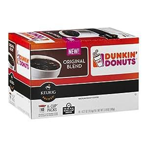Dunkin Donuts Keurig Original Blend K Cup Coffee 10 Ct