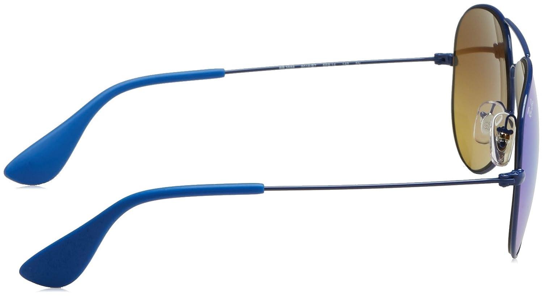 Ray-Ban RAYBAN Unisex-Erwachsene Sonnenbrille 0RB3558 9016B7, Blau ...