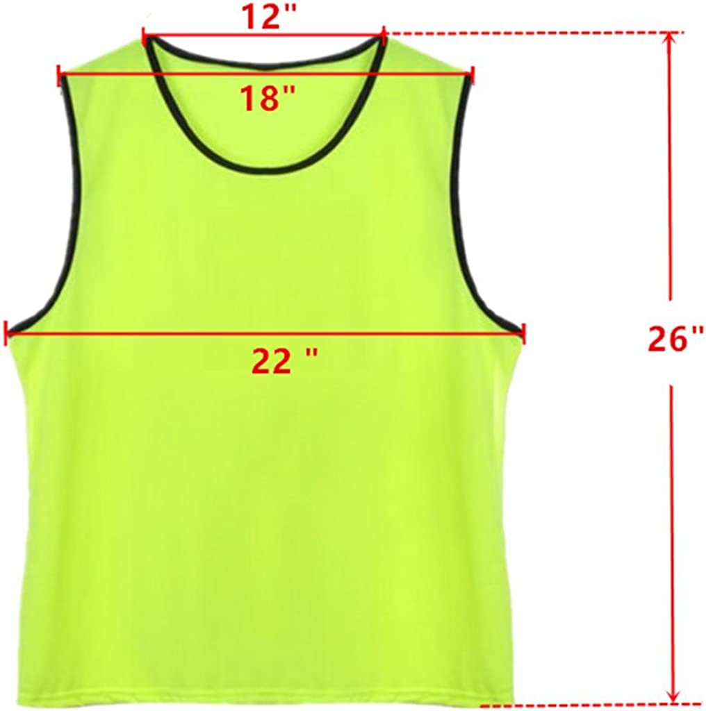American Challenge Soccer Sports Scrimmage Vest Jersey Gold, 10 Pack Youth