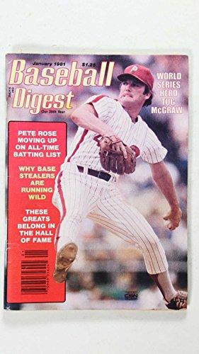TUG MCGRAW WORLD SERIES HERO BASEBALL DIGEST 1981 JANUARY MLB PETE (Tug Mcgraw World Series)