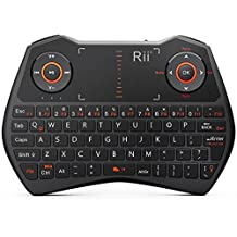 Rii mini i28c backlit 2.4 GHz Wireless Remote Mouse Voice Keyboard for Laptop, PC, Smart TV, Android, Media Box (Black)