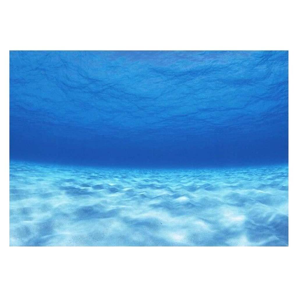 76x46cm non-brand Sharplace Vivid Acquario Sfondo Adesivo Poster Decorativo per Serbatoio da Pesce