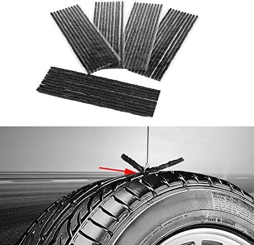Keenso 50 Stücke Auto Reifen Reparatur Schnüre Gummireifen Durchbohren Reparatur Streifen Tubeless Reparatur Werkzeug Für Auto Lkw Motorrad Sport Freizeit