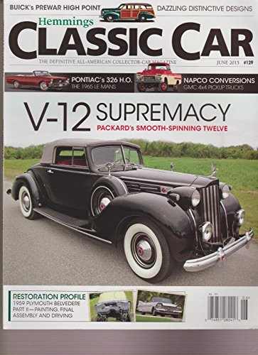 HEMMINGS CLASSIC CAR MAGAZINE #129 JUNE 2015., used for sale  Delivered anywhere in USA