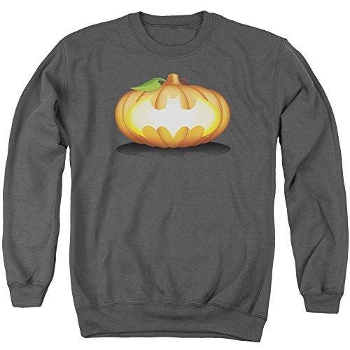 Batman - Bat Pumpkin Logo Adult Crewneck Sweatshirt