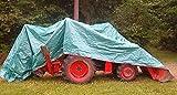 10' x 14' Dry Top Brown/Green Reversible Full Size 7-mil Poly Tarp item #110142