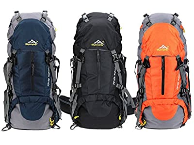 Susufaa 50L(45+5) Hiking Backpack Daypack Waterproof Outdoor Sport Camping Fishing Travel Climbing Mountaineering Cycling Skiing with Rain Cover
