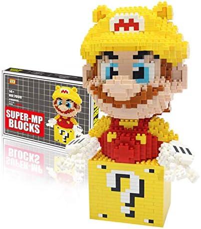 Geel Super Mario Blokken Model Nano Micro Blokken 3D Puzzel DIY Educatief Stress Reliever Speelgoed Geschenken Voor Kinderen Volwassenen