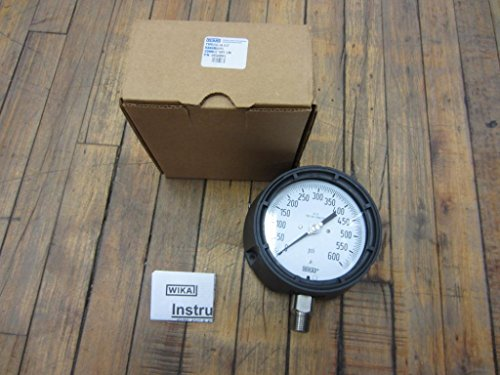 WIKA 9834885 Process Pressure Gauge, Dry-Filled, Stainless Steel 316L Wetted Parts, 4-1/2