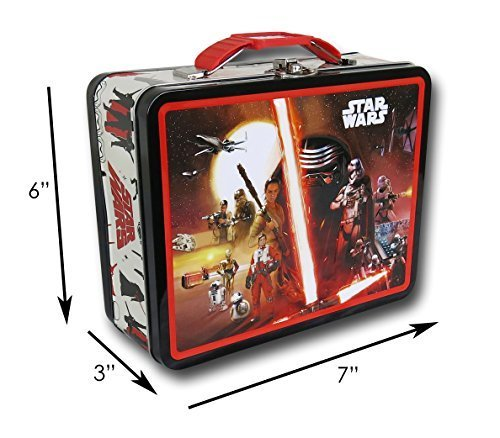 Star Wars THE FORCE AWAKENS Large Embossed Tin Lunch for sale  Delivered anywhere in USA