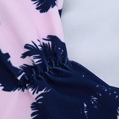 Ouneed Venta caliente mujeres impresa beachwear empujar bikini traje de baño Multicolor 2