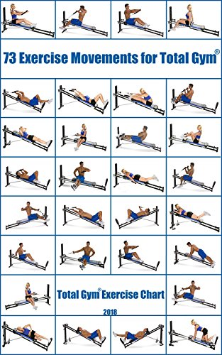 amazon com 73 exercise movements for total gym total gym exercise