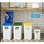 USE-FAMILY-papeleras-Recycle-Pack-4-papeleras-de-reciclaje-cocina-3-contenedores-28L-34-x-25-x-45-y-12L-27x20x33-cm-4-Pegatinas-Reciclaje-Marron-3