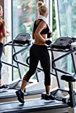 Heat Move Women Capri Yoga Pants with Pocket Mesh