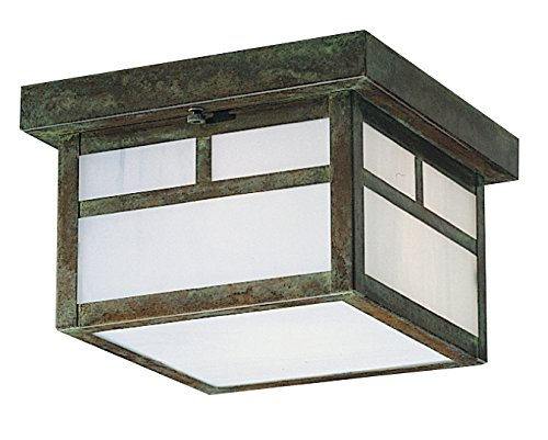 Arroyo Craftsman MCM-12TGW-P mission flush ceiling mount with T-bar overlay, 12