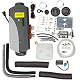 BETTERCLOUD 8KW 12V Parking Diesel Air Heater Remote Control LCD Remote Control 10L for Tank Vent Duct Thermostat Caravan