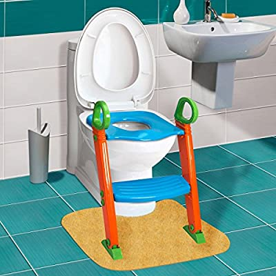 GPCT [Portable] [3-In-1] Kids Toddlers Potty Training Seat W/ Step Stool. Sturdy, Comfortable, Safe, Built In Non-Slip Steps W/ Anti-Slip Pads. Excellent Potty Seat Step Trainer For Boys/Girls/Baby