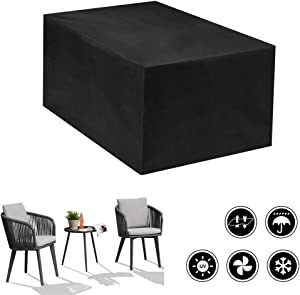 VKQOLH 1Pcs 61x37.4x26.8' Waterproof Rectangular Cover Garden Furniture Covers Heavy Duty Windproof Anti-UV Cube Corner Furniture Sofa Rattan Cover for Outdoor Patio Table, Chairs