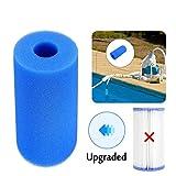 5PCS Pool Filter Intex Type A Reusable/Washable with Foam Cartridge for Pool Filter Intex Filter Cartridge/Cartridge Replacement Foam Filter (3Pcs)